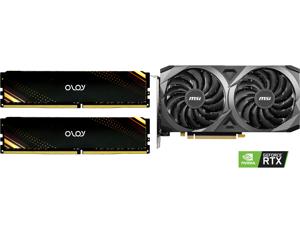 OLOy 16GB (2 x 8GB) 288-Pin DDR4 SDRAM DDR4 3200 (PC4 25600) Desktop Memory Model ND4U0832160BB1DA and MSI Ventus GeForce RTX 3060 12GB GDDR6 PCI Express 4.0 Video Card RTX 3060 Ventus 2X 12G OC