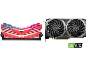 OLOy WarHawk RGB DDR4 3600 (PC4 28800) 16GB (2 x 8GB) 288-Pin Intel/AMD Ready Desktop Memory Model MD4U083618BCDA and MSI Ventus GeForce RTX 3060 12GB GDDR6 PCI Express 4.0 Video Card RTX 3060 Ventus 2X 12G OC