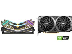 OLOy WarHawk RGB DDR4 3600 (PC4 28800) 16GB (2 x 8GB) 288-Pin Intel/AMD Ready Desktop Memory Model MD4U083618BEDA and MSI Ventus GeForce RTX 3060 12GB GDDR6 PCI Express 4.0 Video Card RTX 3060 Ventus 2X 12G OC