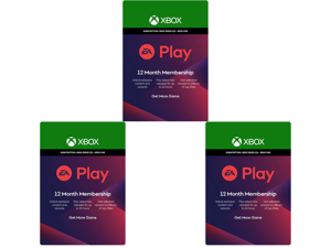 3 x EA Play 12 Month Subscription Xbox One [Digital Code]