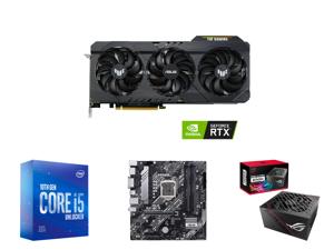 ASUS TUF Gaming GeForce RTX 3060 DirectX 12 Ultimate TUF-RTX3060-O12G-GAMING 12GB 192-Bit GDDR6 PCI Express 4.0 HDCP Ready Video Card OC Edition and Intel Core i5-10600KF Comet Lake 6-Core 4.1 GHz LGA 1200 125W BX8070110600KF Desktop Proces