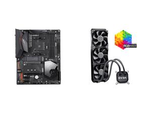 GIGABYTE X570 AORUS ELITE WIFI AM4 AMD X570 SATA 6Gb/s ATX AMD Motherboard and EVGA CLC 360 400-HY-CL36-V1 All-In-One RGB LED CPU Liquid Cooler 3x FX12 120mm PWM Fans Intel AMD
