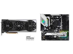 Sapphire Nitro+ AMD Radeon RX 6700 XT Gaming OC Video Card 12GB GDDR6 HDMI / Triple DP (11306-01-20T) and ASRock B550M STEEL LEGEND AM4 AMD B550 SATA 6Gb/s Micro ATX AMD Motherboard