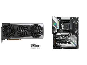 Sapphire Nitro+ AMD Radeon RX 6700 XT Gaming OC Video Card 12GB GDDR6 HDMI / Triple DP (11306-01-20T) and ASRock B550 STEEL LEGEND AM4 AMD B550 SATA 6Gb/s ATX AMD Motherboard