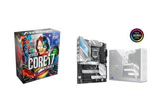 Intel Core i7-10700KA Comet Lake 8-Core 3.8 GHz LGA1200 125W Desktop Processor w/ Intel UHD Graphic 630 - Avengers Special Edition (Game Not Included) - BX8070110700KA and ASUS ROG STRIX Z590-A GAMING WIFI LGA 1200 Intel Z590 SATA 6Gb/s ATX