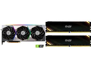MSI Suprim GeForce RTX 3070 8GB GDDR6 PCI Express 4.0 Video Card RTX 3070 SUPRIM X 8G and OLOy 16GB (2 x 8GB) 288-Pin DDR4 SDRAM DDR4 3600 (PC4 28800) Desktop Memory Model ND4U0836180BB1DA