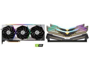 MSI Suprim GeForce RTX 3070 8GB GDDR6 PCI Express 4.0 Video Card RTX 3070 SUPRIM X 8G and OLOy WarHawk RGB DDR4 3600 (PC4 28800) 16GB (2 x 8GB) 288-Pin Intel/AMD Ready Desktop Memory Model MD4U083618BEDA