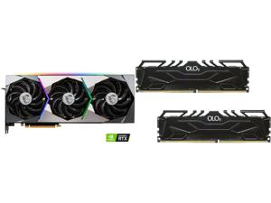 MSI Suprim GeForce RTX 3070 8GB GDDR6 PCI Express 4.0 Video Card RTX 3070 SUPRIM X 8G and OLOy 16GB (2 x 8GB) 288-Pin DDR4 SDRAM DDR4 4000 (PC4 32000) Desktop Memory Model MD4U0840180BJ0DA