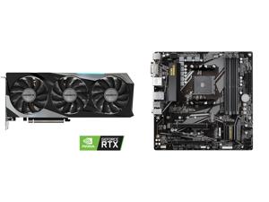 GIGABYTE GeForce RTX 3060 Ti GAMING OC PRO 8GB Video Card GV-N306TGAMINGOC PRO-8GD and GIGABYTE B550M DS3H AM4 AMD B550 Micro-ATX Motherboard with Dual M.2 SATA 6Gb/s USB 3.2 Gen 1 PCIe 4.0
