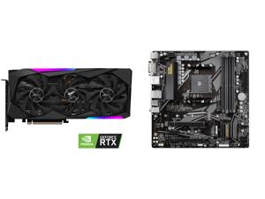 GIGABYTE AORUS GeForce RTX 3060 Ti MASTER 8GB Video Card GV-N306TAORUS M-8GD and GIGABYTE B550M DS3H AM4 AMD B550 Micro-ATX Motherboard with Dual M.2 SATA 6Gb/s USB 3.2 Gen 1 PCIe 4.0
