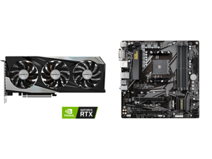 GIGABYTE GeForce RTX 3060 Ti GAMING OC PRO 8G (rev 2.0) Graphics Card WINDFORCE 3x Cooling System 8GB 256-bit GDDR6 GV-N306TGAMINGOC PRO-8GD Video Card and GIGABYTE B550M DS3H AM4 AMD B550 Micro-ATX Motherboard with Dual M.2 SATA 6Gb/s USB