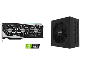 GIGABYTE GeForce RTX 3060 GAMING OC 12G Graphics Card 3 x WINDFORCE Fans 12GB 192-bit GDDR6 GV-N3060GAMING OC-12GD Video Card and GIGABYTE GP-P850GM 850W ATX 12V v2.31 80 PLUS GOLD Certified Full Modular Active (>0.9 typical) PFC Power Supp