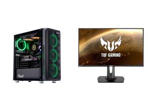 "ABS Legend Gaming PC - Intel i9 10850K - GeForce RTX 3090 - 32GB RGB DDR4 3200MHz - 1TB Intel M.2 NVMe SSD - 240MM RGB AIO and ASUS TUF Gaming VG279QM 27"" Full HD 1920 x 1080 1 ms (GTG) 280Hz (Overclocking) 2 x HDMI DisplayPort G-SYNC ELMB"