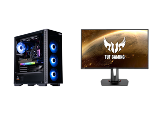 "ABS Legend Gaming PC - Intel i7 11700K - EVGA GeForce RTX 3090 FTW3 Ultra Gaming - G.Skill TridentZ RGB 32GB DDR4 3200MHz - 1TB Intel M.2 NVMe SSD - EVGA CLC 240MM RGB AIO and ASUS TUF Gaming VG279QM 27"" Full HD 1920 x 1080 1 ms (GTG) 280Hz"