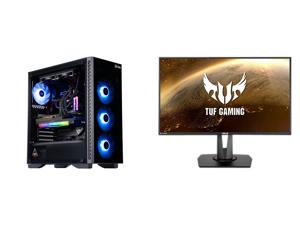 "ABS Legend Gaming PC - Intel i7 11700K - EVGA GeForce RTX 3090 FTW3 Ultra Gaming - G.Skill TridentZ RGB 32GB DDR4 3200MHz - 1TB Intel M.2 NVMe SSD - EVGA CLC 240MM RGB AIO and ASUS TUF Gaming VG279QM 27"" Full HD 1920 x 1080 1 ms (GTG) 280Hz"