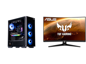 "ABS Legend Gaming PC - Intel i7 11700K - EVGA GeForce RTX 3090 FTW3 Ultra Gaming - G.Skill TridentZ RGB 32GB DDR4 3200MHz - 1TB Intel M.2 NVMe SSD - EVGA CLC 240MM RGB AIO and ASUS TUF Gaming VG328H1B 31.5"" Full HD 1920 x 1080 165Hz (OC) 1m"