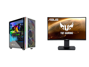 "Skytech Chronos - AMD Ryzen 7 3700X - Radeon RX 6700 XT - 16GB DDR4 3200 - 1TB SSD - B550M MB - 750W Gold PSU - ARGB Fans - AC WiFi - Windows 10 Home - Gaming Desktop and ASUS TUF Gaming VG24VQ 24"" Full HD 1920 x 1080 1ms MPRT 144Hz 2 x HDM"