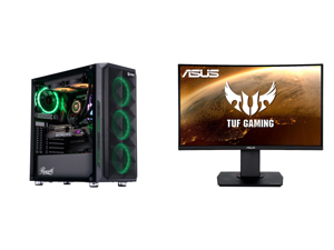 "ABS Legend Gaming PC - Intel i9 10850K - GeForce RTX 3090 - 32GB RGB DDR4 3200MHz - 1TB Intel M.2 NVMe SSD - 240MM RGB AIO and ASUS TUF Gaming VG24VQ 24"" Full HD 1920 x 1080 1ms MPRT 144Hz 2 x HDMI DisplayPort AMD FreeSync Asus Eye Care wit"