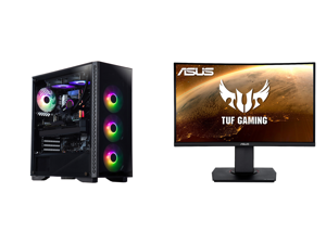 "ABS Legend Gaming PC - Intel i9-10900KF - GeForce RTX 3090 - G.Skill TridentZ RGB 32GB DDR4 3200 MHz - 1TB M.2 NVMe SSD and ASUS TUF Gaming VG24VQ 24"" Full HD 1920 x 1080 1ms MPRT 144Hz 2 x HDMI DisplayPort AMD FreeSync Asus Eye Care with U"