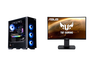 "ABS Legend Gaming PC - Intel i7 11700K - EVGA GeForce RTX 3090 FTW3 Ultra Gaming - G.Skill TridentZ RGB 32GB DDR4 3200MHz - 1TB Intel M.2 NVMe SSD - EVGA CLC 240MM RGB AIO and ASUS TUF Gaming VG24VQ 24"" Full HD 1920 x 1080 1ms MPRT 144Hz 2"