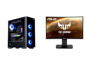 "ABS Legend Gaming PC - Intel i7 11700K - EVGA GeForce RTX 3090 FTW3 Ultra Gaming - G.Skill TridentZ RGB 32GB DDR4 3200MHz - 1TB Intel M.2 NVMe SSD - EVGA CLC 240MM RGB AIO and ASUS TUF Gaming VG24VQ 24"" Full HD 1920 x 1080 1ms MPRT 144Hz 2"