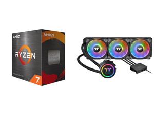 AMD Ryzen 7 5800X 8-Core 3.8 GHz Socket AM4 105W 100-100000063WOF Desktop Processor and Thermaltake Floe DX 360 Triple Riing Duo 16.8 Million Colors RGB 54 LED LGA2066 AM4 Ready Intel/AMD Liquid Cooling All-in-One CPU Cooler CL-W256-PL12SW-