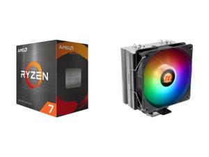 AMD Ryzen 7 5800X 8-Core 3.8 GHz Socket AM4 105W 100-100000063WOF Desktop Processor and Thermaltake UX210 5V Motherboard ARGB Sync 16.8 Million Colors 10 Addressable LED Intel/AMD Universal Socket Copper Base U-Shape Heatpipes Hydraulic Bea