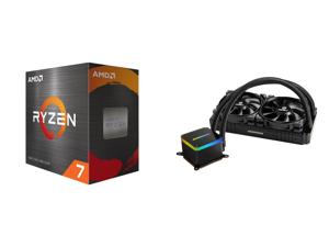 AMD Ryzen 7 5800X 8-Core 3.8 GHz Socket AM4 105W 100-100000063WOF Desktop Processor and Enermax LIQTECH II 240 Addressable RGB All-in-one CPU Liquid Cooler for AM4/ LGA1200 240mm Radiator Dual-Chamber RGB Pump T.B. Pressure Fan Blades 5 Yea