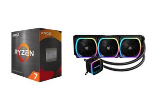 AMD Ryzen 7 5800X 8-Core 3.8 GHz Socket AM4 105W 100-100000063WOF Desktop Processor and Enermax AQUAFUSION 360 Addressable RGB All-in-one CPU Liquid Cooler for AM4 / LGA 1200 360mm Radiator Dual-Chamber Water Block SquA RGB Fans 5 Year Warr