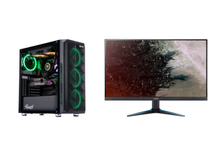 "ABS Legend Gaming PC - Intel i9 10850K - GeForce RTX 3090 - 32GB RGB DDR4 3200MHz - 1TB Intel M.2 NVMe SSD - 240MM RGB AIO and Acer Nitro VG270U Pbmiipx 27"" QHD 2560 x 1440 2K 144Hz 1ms (VRB) 2xHDMI DisplayPort Built-in Speakers AMD FreeSyn"