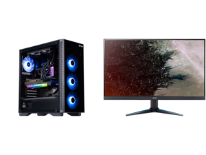 "ABS Legend Gaming PC - Intel i7 11700K - EVGA GeForce RTX 3090 FTW3 Ultra Gaming - G.Skill TridentZ RGB 32GB DDR4 3200MHz - 1TB Intel M.2 NVMe SSD - EVGA CLC 240MM RGB AIO and Acer Nitro VG270U Pbmiipx 27"" QHD 2560 x 1440 2K 144Hz 1ms (VRB)"