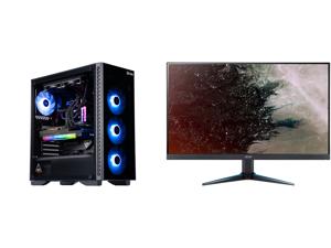 "ABS Legend Gaming PC - Intel i7 11700K - EVGA GeForce RTX 3090 FTW3 Ultra Gaming - G.Skill TridentZ RGB 32GB DDR4 3200MHz - 1TB Intel M.2 NVMe SSD - EVGA CLC 240MM RGB AIO and Acer Nitro VG270U Pbmiipx 27"" QHD 2560 x 1440 2K 144Hz 1ms (VRB)"