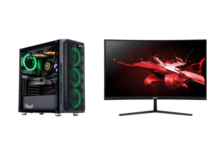 "ABS Legend Gaming PC - Intel i9 10850K - GeForce RTX 3090 - 32GB RGB DDR4 3200MHz - 1TB Intel M.2 NVMe SSD - 240MM RGB AIO and Acer EI272UR Pbmiiipx 27"" WQHD 2560 x 1440 2K 144Hz 3xHDMI DisplayPort Built-in Speakers AMD FreeSync 2 Backlit L"