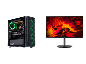 "ABS Legend Gaming PC - Intel i9 10850K - GeForce RTX 3090 - 32GB RGB DDR4 3200MHz - 1TB Intel M.2 NVMe SSD - 240MM RGB AIO and Acer RX241Y Pbmiiphx 24"" (23.8"" Viewable) Full HD 1920 x 1080 1ms 144 Hz (165 Hz OC) 2 x HDMI DisplayPort AMD Fre"