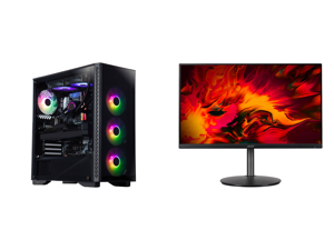 "ABS Legend Gaming PC - Intel i9-10900KF - GeForce RTX 3090 - G.Skill TridentZ RGB 32GB DDR4 3200 MHz - 1TB M.2 NVMe SSD and Acer RX241Y Pbmiiphx 24"" (23.8"" Viewable) Full HD 1920 x 1080 1ms 144 Hz (165 Hz OC) 2 x HDMI DisplayPort AMD FreeSy"
