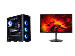 "ABS Legend Gaming PC - Intel i7 11700K - EVGA GeForce RTX 3090 FTW3 Ultra Gaming - G.Skill TridentZ RGB 32GB DDR4 3200MHz - 1TB Intel M.2 NVMe SSD - EVGA CLC 240MM RGB AIO and Acer RX241Y Pbmiiphx 24"" (23.8"" Viewable) Full HD 1920 x 1080 1m"