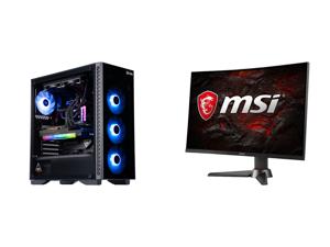 "ABS Legend Gaming PC - Intel i7 11700K - EVGA GeForce RTX 3090 FTW3 Ultra Gaming - G.Skill TridentZ RGB 32GB DDR4 3200MHz - 1TB Intel M.2 NVMe SSD - EVGA CLC 240MM RGB AIO and MSI Optix MAG27CQ 27"" 2560 x 1440 WQHD 2K Resolution 144Hz Displ"