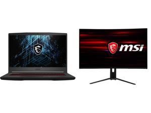"MSI GF65 Thin 10UE-071 - 15.6"" 144 Hz IPS - Intel Core i7-10750H - NVIDIA GeForce RTX 3060 Laptop GPU 6 GB GDDR6 - 16 GB Memory - 512 GB NVMe SSD - Windows 10 Home - Gaming Laptop and MSI Optix MAG322CQR 32"" (Actual size 31.5"") WQHD 2560 x"