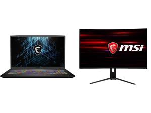"MSI GF75 Thin 10UEK-048 - 17.3"" 144 Hz IPS - Intel Core i7-10750H - NVIDIA GeForce RTX 3060 Laptop GPU 6 GB GDDR6 - 16 GB Memory - 512 GB NVMe SSD + 1 TB HDD - Windows 10 Home - Gaming Laptop and MSI Optix MAG322CQR 32"" (Actual size 31.5"")"