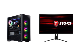 "ABS Legend Gaming PC - Intel i9-10900KF - GeForce RTX 3090 - G.Skill TridentZ RGB 32GB DDR4 3200 MHz - 1TB M.2 NVMe SSD and MSI Optix MAG322CQR 32"" (Actual size 31.5"") WQHD 2560 x 1440 (2K) 1ms (MPRT) 165Hz 2 x HDMI DisplayPort USB FreeSync"