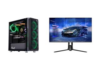 """ABS Legend Gaming PC - Intel i9 10850K - GeForce RTX 3090 - 32GB RGB DDR4 3200MHz - 1TB Intel M.2 NVMe SSD - 240MM RGB AIO and Westinghouse WM27PX9019 27"""" Full HD 1920 x 1080 144Hz HDMI VGA DisplayPort AMD FreeSync Technology Flicker-Free E"""