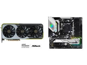 ASRock OC Formula Radeon RX 6900 XT 16GB GDDR6 PCI Express 4.0 x16 ATX Video Card RX6900XT OCF 16G and ASRock B550M STEEL LEGEND AM4 AMD B550 SATA 6Gb/s Micro ATX AMD Motherboard