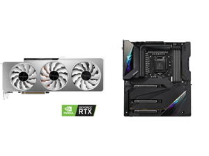 GIGABYTE GeForce RTX 3090 VISION OC 24GB Video Card GV-N3090VISION OC-24GD and GIGABYTE Z590 AORUS XTREME LGA 1200 Intel Z590 SATA 6Gb/s Extended ATX Intel Motherboard