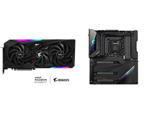 GIGABYTE AORUS Radeon RX 6900 XT DirectX 12 Ultimate GV-R69XTAORUS M-16GD 16GB 256-Bit GDDR6 PCI Express 4.0 x16 ATX Video Card and GIGABYTE Z590 AORUS XTREME LGA 1200 Intel Z590 SATA 6Gb/s Extended ATX Intel Motherboard