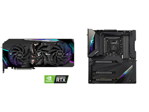 GIGABYTE AORUS GeForce RTX 3090 MASTER 24GB Video Card GV-N3090AORUS M-24GD and GIGABYTE Z590 AORUS XTREME LGA 1200 Intel Z590 SATA 6Gb/s Extended ATX Intel Motherboard