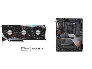 GIGABYTE Radeon RX 6900 XT GAMING OC Video Card GV-R69XTGAMING OC-16GD and GIGABYTE Z490 AORUS MASTER LGA 1200 Intel Z490 ATX Motherboard with Triple M.2 SATA 6Gb/s USB 3.2 Gen 2 WIFI 6 2.5 GbE LAN