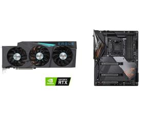GIGABYTE GeForce RTX 3090 EAGLE OC 24GB Video Card GV-N3090EAGLE OC-24GD and GIGABYTE Z490 AORUS MASTER LGA 1200 Intel Z490 ATX Motherboard with Triple M.2 SATA 6Gb/s USB 3.2 Gen 2 WIFI 6 2.5 GbE LAN