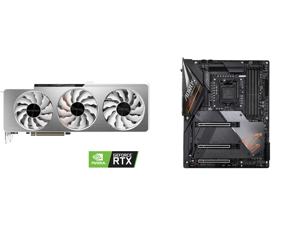 GIGABYTE GeForce RTX 3090 VISION OC 24GB Video Card GV-N3090VISION OC-24GD and GIGABYTE Z490 AORUS MASTER LGA 1200 Intel Z490 ATX Motherboard with Triple M.2 SATA 6Gb/s USB 3.2 Gen 2 WIFI 6 2.5 GbE LAN