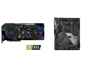 GIGABYTE AORUS GeForce RTX 3090 MASTER 24GB Video Card GV-N3090AORUS M-24GD and GIGABYTE Z490 AORUS MASTER LGA 1200 Intel Z490 ATX Motherboard with Triple M.2 SATA 6Gb/s USB 3.2 Gen 2 WIFI 6 2.5 GbE LAN