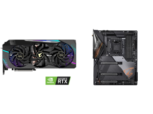 GIGABYTE AORUS GeForce RTX 3090 XTREME 24GB Video Card GV-N3090AORUS X-24GD and GIGABYTE Z490 AORUS MASTER LGA 1200 Intel Z490 ATX Motherboard with Triple M.2 SATA 6Gb/s USB 3.2 Gen 2 WIFI 6 2.5 GbE LAN